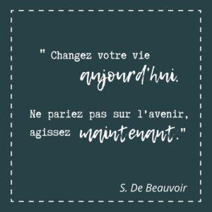 Changer aujourd'hui. Ne pas parier sur l'avenir
