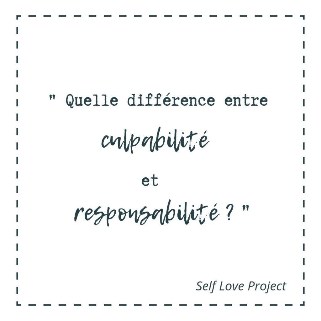 quelle différence entre culpabilité et responsabilité